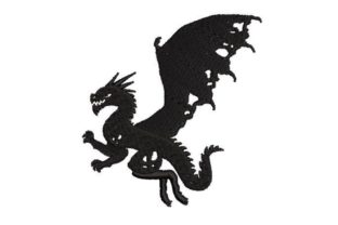 Silhouette of a Dragon Fairy Tales Embroidery Design By Embroidery Designs