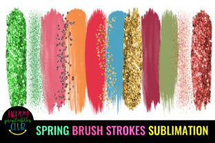 Spring Brush Strokes Sublimation-Brush Graphic Crafts By Happy Printables Club 1