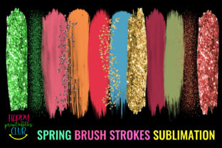 Spring Brush Strokes Sublimation-Brush Graphic Crafts By Happy Printables Club 2