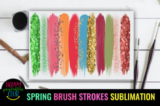 Spring Brush Strokes Sublimation-Brush Graphic Crafts By Happy Printables Club 3