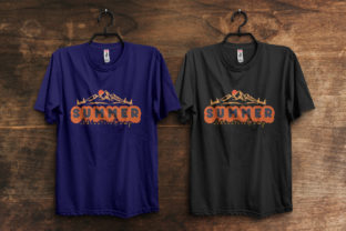 Print on Demand: Summer Adventure Camp T-Shirt Design Graphic Print Templates By ivect