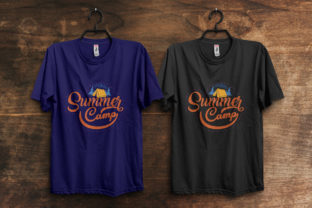 Print on Demand: Summer Camp T-Shirt Design Template Graphic Print Templates By ivect