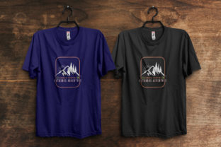 Print on Demand: Summer Camping Outdoor Adventure T-Shirt Graphic Print Templates By ivect