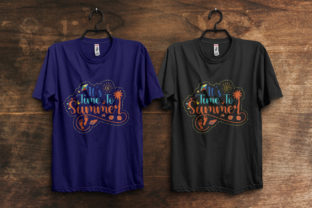 Print on Demand: Summer Typography T-Shirt Design Graphic Print Templates By ivect