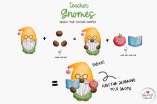 Print on Demand: Teacher Gnome Clipart, Gnomes Teacher Graphic Illustrations By Chonnieartwork 4