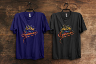 Print on Demand: The Beach is Calling Typography T-Shirt Graphic Print Templates By ivect