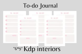 To Do Journal with Pastel Pink Color Graphic KDP Interiors By flovin design 1