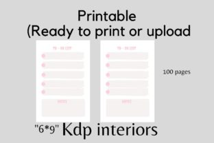 To Do Journal with Pastel Pink Color Graphic KDP Interiors By flovin design 2