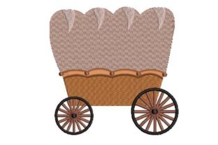 Travelling Wagon Transportation Embroidery Design By Embroidery Designs