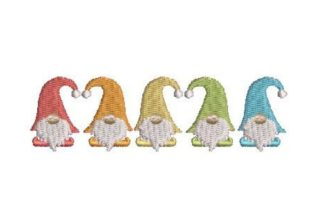 Urban Rainbow Gnomes Fairy Tales Embroidery Design By Embroidery Designs