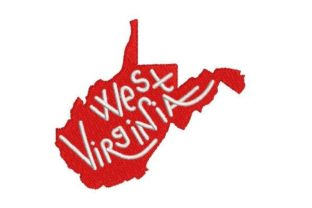 West Virginia Word Art North America Embroidery Design By Embroidery Designs