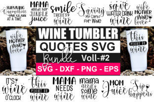 Print on Demand: Wine Tumbler Bundle Graphic Crafts By Designdealy