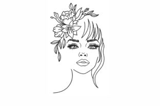 Woman Beauty Embroidery Design By NinoEmbroidery