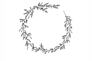 Wreath of Leaves Floral Wreaths Embroidery Design By NinoEmbroidery