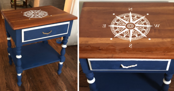 Curbside Cabinet to Fun Coastal Accent