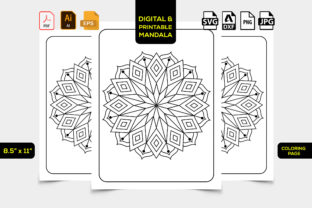 Print on Demand: Mandala Coloring Pages Svg for Kids Graphic Coloring Pages & Books Kids By TeamlancerBD 1