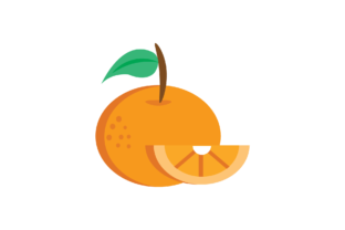 Print on Demand: Orange ~ Fruit Icon Graphic Icons By cagakluas