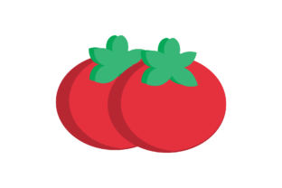 Print on Demand: Tomato ~ Fruit Icon Graphic Icons By cagakluas