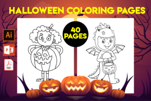 Print on Demand: 40 Halloween Coloring Pages for Kids Graphic Coloring Pages & Books Kids By Cute Coloring