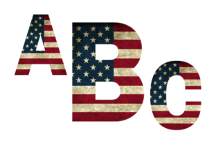 Print on Demand: 4th of July Alphabet Graphic Web Elements By Nupool Katsora