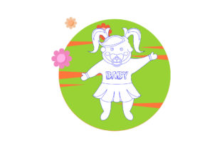 Baby Child Beautiful Girl Cloud Flower Graphic Icons By faykproject