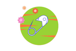 Baby Clothes Hook Cute Circle Flower Graphic Icons By gemintangstudio
