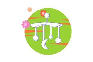 Baby Hanging Toys Circle Cloud Flower Graphic Icons By flatbackgroundstudio