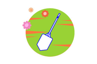 Camping Shovel Ornament Circle Flower Graphic Icons By samanostudio