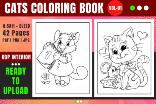 Print on Demand: Cat Coloring Book Pages for Kids - 01 Graphic Coloring Pages & Books Kids By Merch Rain