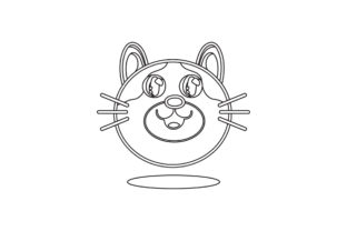 Cat Cute Vector Icon Line Style Graphic Illustrations By samagata