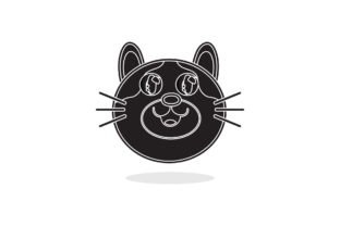 Cat Cute Vector Icon White Line Style Graphic Illustrations By samagata