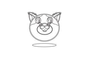 Cute Cat Vector Illustration Line Style Graphic Illustrations By samagata