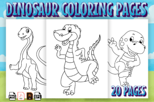 Print on Demand: Cute Dinosaur Coloring Book-KDP Interior Graphic Coloring Pages & Books Kids By Kristy Coloring