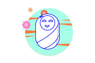Cute Little Baby Circle Cloud Flower Graphic Icons By MyDesignStudioSemarang