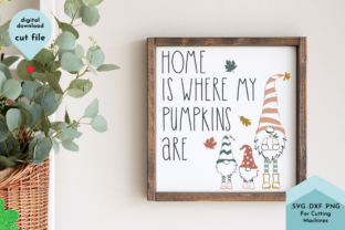 Print on Demand: Fall Gnomes, Fall Phrase, Autumn Decor Graphic Crafts By Lettershapes