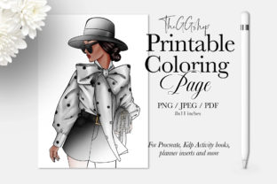 Print on Demand: Fashion Adult Kdp Coloring Page Graphic Coloring Pages & Books Adults By TheGGShop