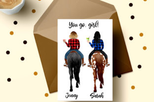 Print on Demand: Horseback Riding Clipart Western Girls Graphic Illustrations By LeCoqDesign 5