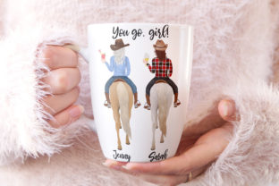 Print on Demand: Horseback Riding Clipart Western Girls Graphic Illustrations By LeCoqDesign 6