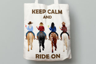 Print on Demand: Horseback Riding Clipart Western Girls Graphic Illustrations By LeCoqDesign 8