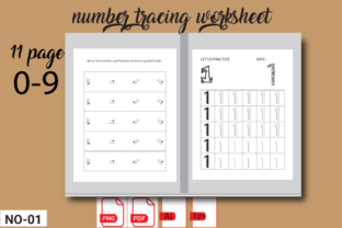 Print on Demand: Number Tracing  Worksheets Printable Graphic 1st grade By kamrun82