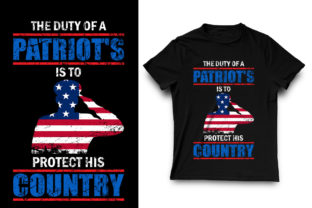 Print on Demand: The Duty of a Patriots Graphic Print Templates By shorif26