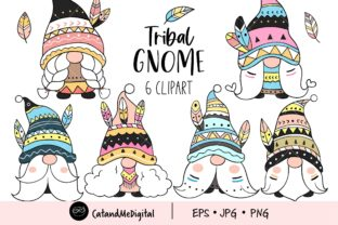 Tribal Gnome Clipart Graphic Illustrations By CatAndMe