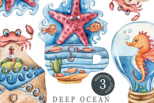 Print on Demand: Watercolor Nautical Clipart/ Sublimation Graphic Print Templates By Tiana Geo