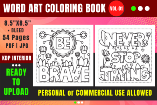Print on Demand: Word Art Coloring Book Pages for Kids Graphic Coloring Pages & Books Kids By Merch Rain