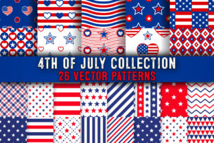 Print on Demand: American 4th of July Vector Patterns Bundle Graphic Textures By julienstore