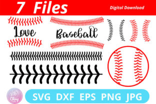 Baseball Stitches SVG, Digital File Graphic 3D SVG By Chingcreative