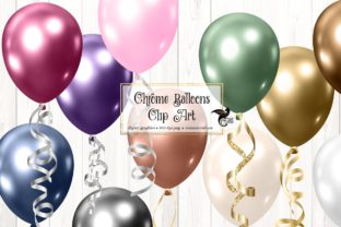 Print on Demand: Chrome Balloons Clip Art Graphic Illustrations By Digital Curio