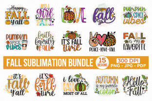 Fall Sublimation Bundle | 15 Designs Graphic Crafts By CraftlabSVG