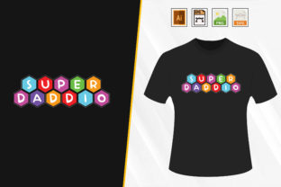 Print on Demand: Father's Day T-shirt Design, Vector. Graphic Print Templates By Trendy Graphics