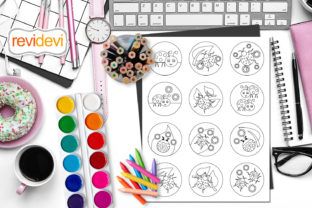 Print on Demand: Ladybugs Tags Coloring Page Graphic Coloring Pages & Books Kids By Revidevi